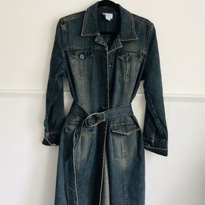 NEW Dark Winter Jeans Trench Coat Lord Taylor • 12